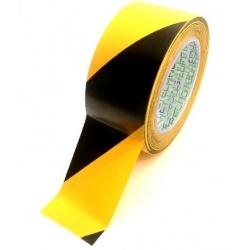 Taśma ostrzegawcza 25 MM 33 MB żółto czarna Premium