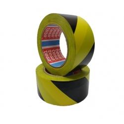 Taśma ostrzegawcza 50 MM 33 MB żółto czarna Tesa 60760