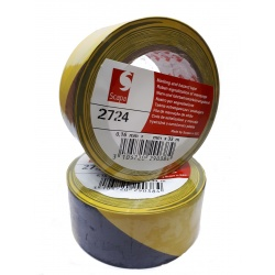 Taśma ostrzegawcza SCAPA 2724 100 MM 33 MB żółto czarna